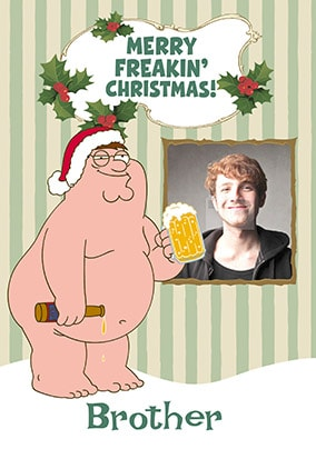 family guy brother photo christmas card