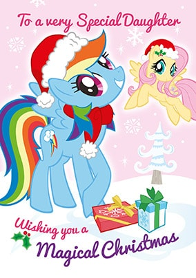 My Little Pony Christmas.My Little Pony Daughter Personalised Christmas Card