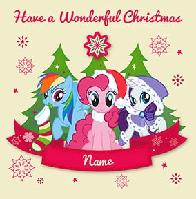 Mlp Christmas.My Little Pony Christmas Cards Official Funky Pigeon