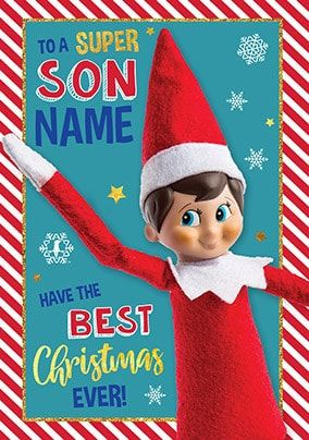 Elf on the Shelf - Super Son Personalised Card