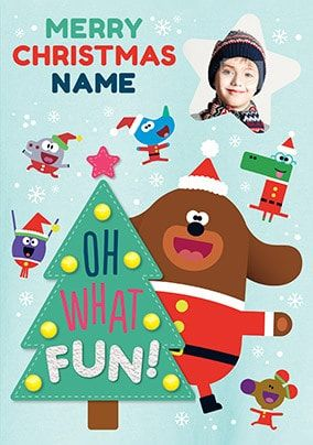 Hey Duggee - Oh What Fun Photo Christmas Card