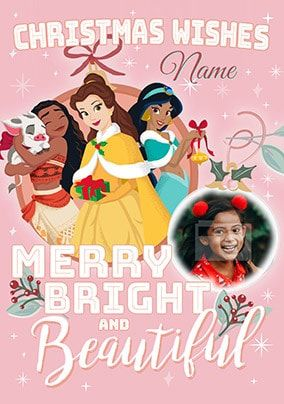 Disney Princess Christmas Wishes Photo Card