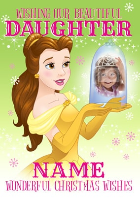 Disney Princess Daughter Photo Christmas Card
