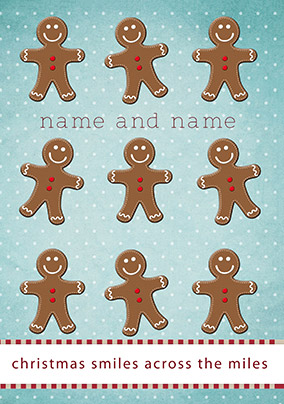 Across the Miles Christmas Card - Gingerbread Men Emotional Rescue