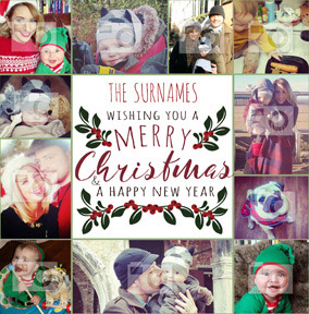 Christmas Card Photo Upload From the Family - Essentials Merry Christmas