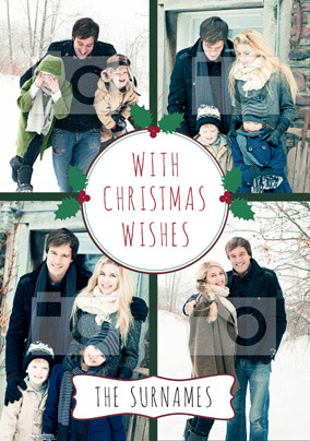 Christmas Card Photo Upload From the Family - Essentials Christmas Wishes