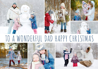 Dad Photo Upload Christmas Card Multi - Essentials