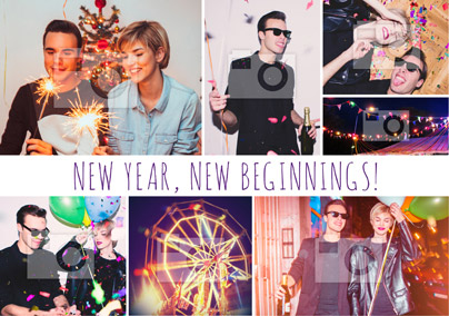 Happy New Year Photo Upload Card Multi - Essentials