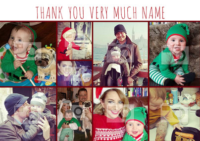 Thank You Photo Upload Christmas Card - Essentials Multi Photo Upload