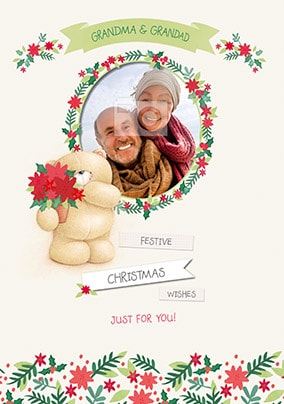 Grandparents Forever Friends Photo Upload Christmas Card