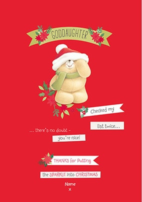 Goddaughter Personalised Christmas Card