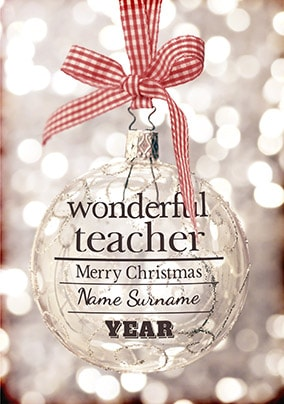 Merry Christmas Teacher Quotes.Teacher Christmas Cards Funky Pigeon