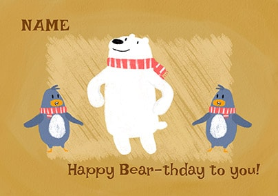 Happy Bear-thday To You Personalised Card