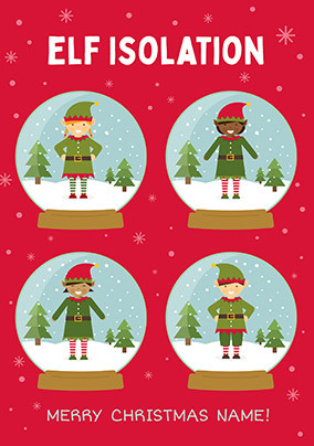 Elf Isolation Personalised Card