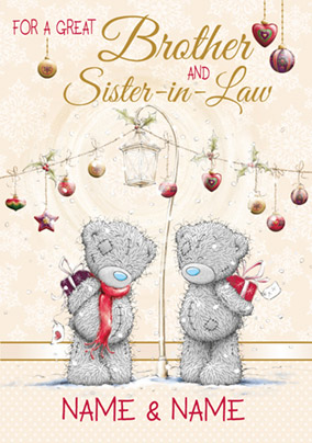 Brother & Sister-in-Law Christmas Card Gifts - Me to You | Funky Pigeon