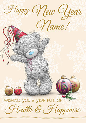 happy new year card love happiness me to you