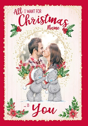 Romantic christmas cards funky pigeon me to you all i want is you christmas card m4hsunfo