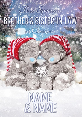 Brother & Sister-in-Law Christmas Card - Me to You Photo Finish
