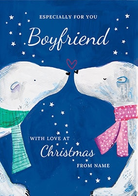 Boyfriend at Christmas Personalised Card