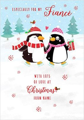 Fiance at Christmas Personalised Card