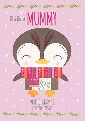 Lovely Mummy Personalised Christmas Card