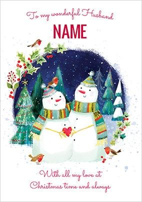 Husband Personalised Christmas Card