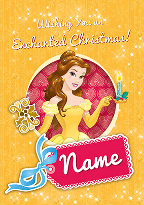 Belle Christmas Card - Disney Princess