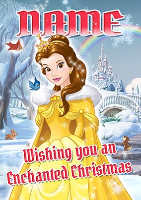 Belle Christmas Card