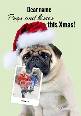 7e89136bcc5 Dog Photo Upload Christmas Card Pugs Kisses - Rachael Hale. NO. preview  image is not found