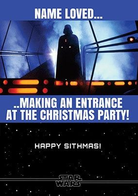 Darth Vader Christmas Party Personalised Card