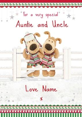 Boofle - Special Auntie and Uncle at Christmas