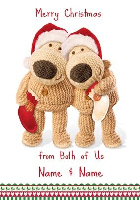 Boofle Christmas Card - From Both of us at Christmas