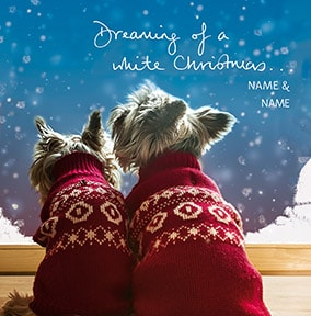 Dreaming Of A White Christmas Personalised Card