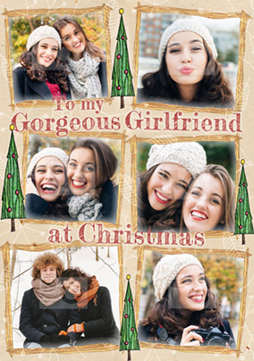 Girlfriend Christmas Card Photo Upload Multi - Enchanted Forest