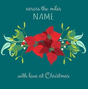 Across The Miles Personalised Christmas Card