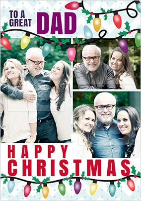 Great Dad Multi Photo Christmas Card