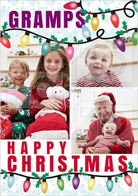 Gramps Multi Photo Christmas Card