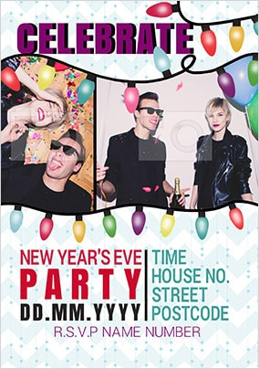 New Year S Eve Party Invite Funky Pigeon
