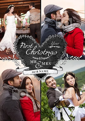 First Christmas as Mr ad Mrs Card