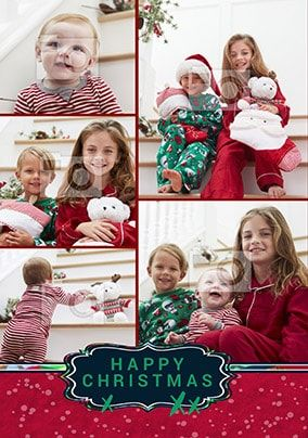 Happy Christmas Multi Photo Card