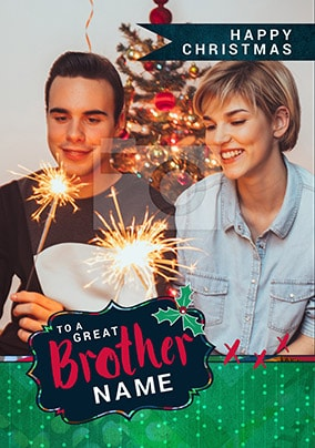 Great Brother Photo Christmas Card