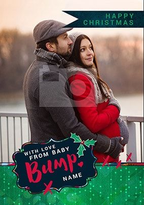 Love From Bump Photo Christmas Card