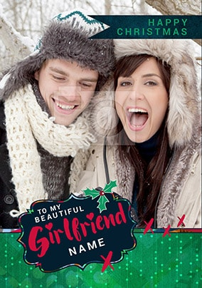 Beautiful Girlfriend Photo Christmas Card