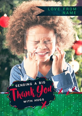Big Thank You Photo Christmas Card