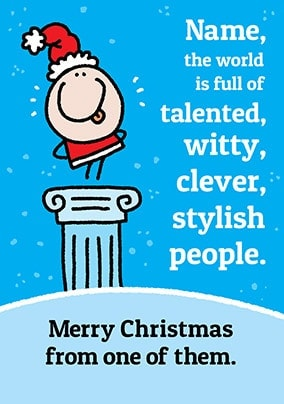 Clever Stylish People Personalised Christmas Card
