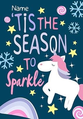 The Season To Sparkle Personalised Card