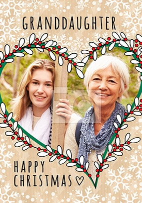 Granddaughter Photo Christmas Card