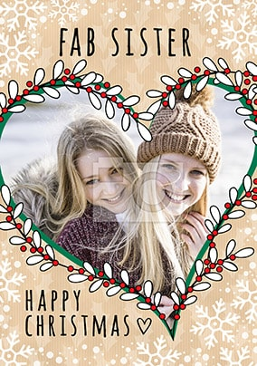 Fab Sister Photo Christmas Card