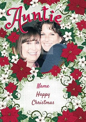 Auntie Photo Christmas Card