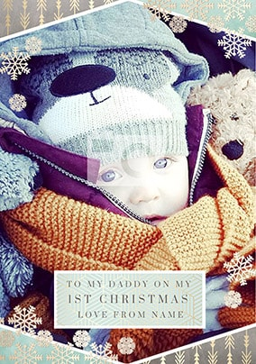 Daddy 1st Christmas Photo Card
